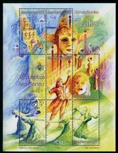 HERRICKSTAMP SAN MARINO Sc.# 1852 World Theatre Day Stamp Sheetlet