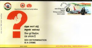 India 2020 Sex Determination Is a Crime Health Medical Special Cover # 18690