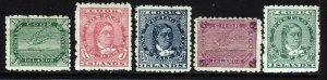COOK ISLANDS 1902 Part Set Perf.11 Watermark Close NZ Star SG 28 to SG 35 MINT