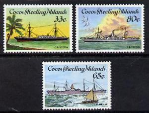 Cocos (Keeling) Islands 1985 Cable-laying Ships set of 3 ...