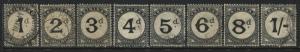 Trinidad & Tobago 1923-45 Postage Dues complete set used