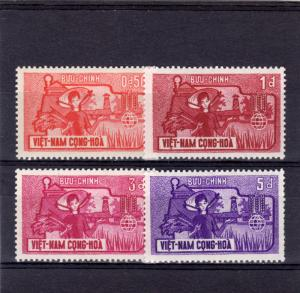 VIETNAM SOUTH Sc#207-10 1963 FAO 'Freedom from Hunger' Campaign MNH