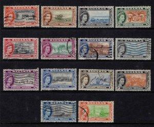 1954-63 Bahamas Elizabeth II Definitives Partial Set