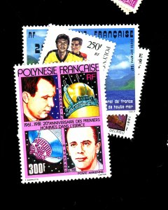 FRENCH POLYNESIA #C184-6 191=3 MINT VF OG LH Cat $33  Cat $33