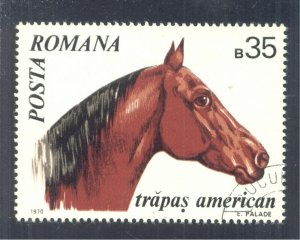 American Trotter Horse (Equus ferus caballus), 1970 Romania, Scott #2210
