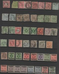 Old German state Wurttemberg postage stamps
