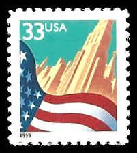 PCBstamps   US #3278 33c Flag & City, black, MNH, (8)