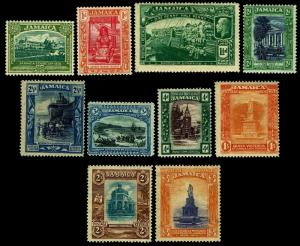 1919-21 Jamaica #75-85 Early Commemoratives - OGHR - Fine+ - CV$60.55 (ESP#3528)