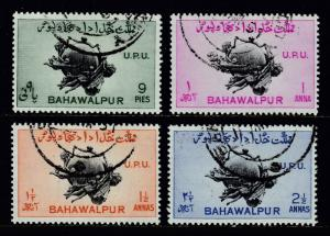 BAHAWALPUR — SCOTT 26-29 (SG 43-46) — 1949 UPU SET — USED — SCV $12.00