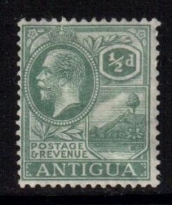 Antigua SG62, 1921 Script CA 1/2d, MH*