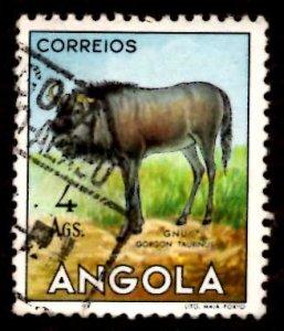 Angola 1953 African Brindled gnu Wild Animals 4a Scott.375 Used (#2)