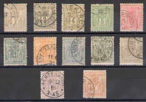 1882-1889 Luxembourg - Group Allegorie N° 47/58, 12 Values