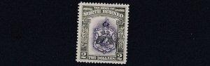 NORTH BORNEO  1939  S G 316     $2   VIOLET  7  OLIVE GREEN     MH