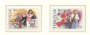 Faroe Islands Sc 125-6 1985 Europa stamp set NH