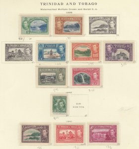 TRINIDAD AND TOBAGO KGV1 MH ISSUES 1938-1941