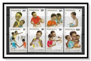 Rwanda #1019-1026 SOS Children's Village Set MNH