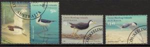 COCOS (KEELING) ISLANDS SG434/7 2008 VISITING BIRDS FINE USED