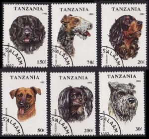 Tanzania Dogs 6v CTO SG#1681-1686 SC#1144-1149