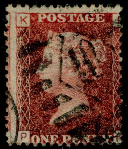 SG43, 1d rose-red plate 124, USED. PK