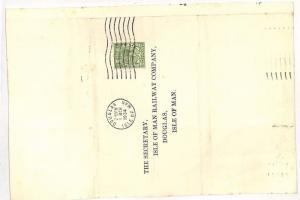 SS251 1934 GB *DOUGLAS ISLE OF MAN* Cover {samwells-covers}PTS