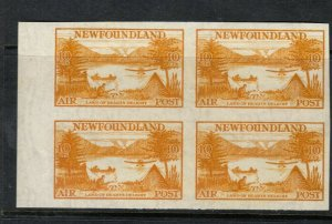 Newfoundland #C14a Extra Fine Never Hinged Imperf Block **With Certificate**