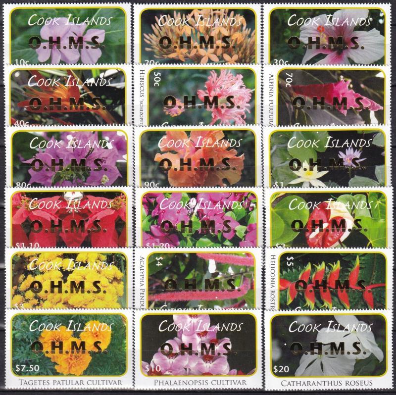 Cook Islands #O70-87 MNH CV $94.10   (A19979)
