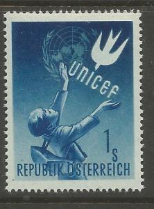 AUSTRIA 559  MNH, SYMBOLICAL OF CHILD WELFARE, 1ST YEAR OF UNICEF IN AUSTRIA
