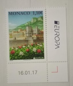 Monaco 2017 EUROPA Stamps - Palaces and Castles MNH**
