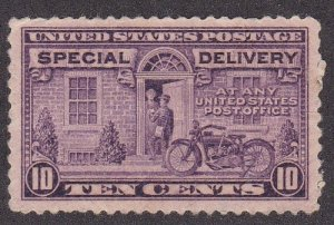 U.S. # E15, Special Delivery, NH, Gum Wrinkles