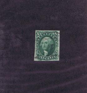 SCOTT# 13 USED 10c WASHINGTON, LIGHT CANCEL, 1855, NICE, TAK A LOOK!