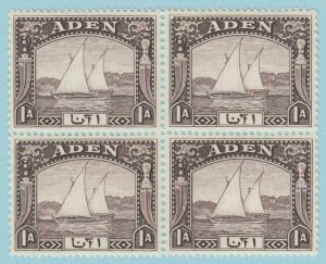 ADEN 3 BLOCK OF 4 MINT HINGED OG * NO FAULTS VERY FINE !
