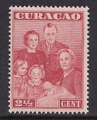 Netherlands Antilles   #171  Curacao  MH   1943  royal family  2 1/2c