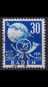 GERMANY Alliiert Franz. Zone [Baden] MiNr 0057 ( O/used ) Post