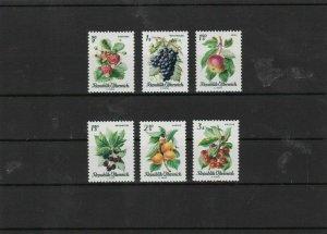 austria 1966 fruits mnh  stamps set  ref 7140