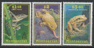 Montserrat SG 860 - 868 set of 3  MLH - Frogs