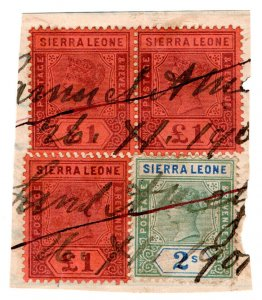 (I.B-BOB) Sierra Leone Revenue : Stamp Duty £3 2/-