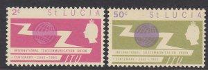 St Lucia 197-8 ITU mnh