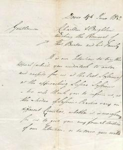 GB LETTER Dover *Removal Order* 1832 {samwells-covers} MS1892