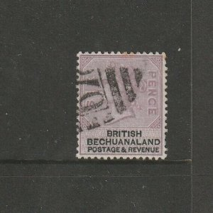 Bechuanaland 1888 QV Defs  6d Used SG 14, see note