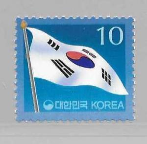 Korea 1984 10w Flag single MNH