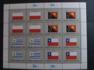 UNITED NATION-1984 SC#433-436 U. N. FLAGS SERIES MNH FULL SHEET- VERY FINE