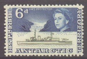 British Antarctic Territory BAT Scott 8 - SG8, 1963 Elizabeth II 6d MNH**