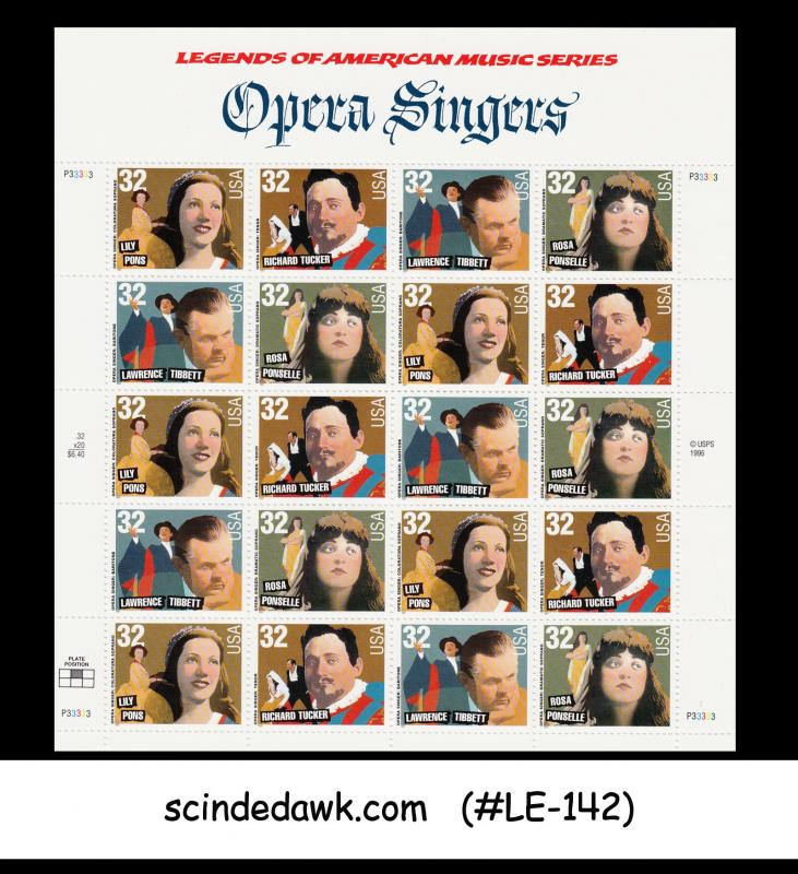 USA - 1997 OPERA SINGERS - MINIATURE SHEET - MINT NH