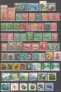 COLLECTION LOT # 42 NEW ZEALAND 72 STAMPS CLEARANCE