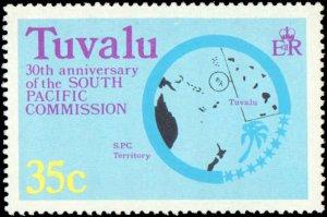 Tuvalu #46-49, Complete Set(4), 1977, Never Hinged