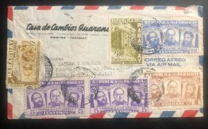 1946 Asuncion Paraguay Airmail Cover To Baltimore MD USA