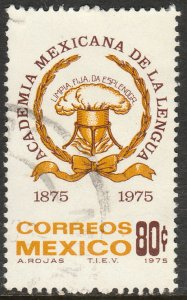 MEXICO 1089, Centenary Mexican Academy of Language Used. F-VF. (1227)