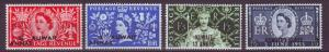 J20837 Jlstamps 1953 kuwait mh set #113-6 queen ovpt