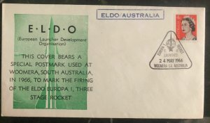 1966 Woomera Australia Rocket Mail First Day Cover FDC ELDO Europa 1