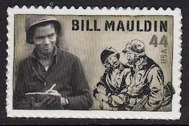 United States MNH at face value, Bill Mauldin single